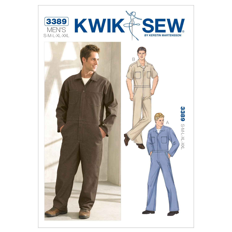 Amazon.com: Kwik Sew K3389 Coveralls Sewing Pattern, Size S-M-L-XL ...