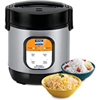 KENT Personal Rice Cooker 0.9-litres 180-Watt (Black and Silver)
