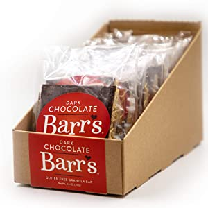 Mrs. Barr's Natural Foods Granola Bars   Dark Chocolate   Certified Organic Gluten Free Oats   Soft Texture   Small Batch   Gourmet Quality   Real Ingredients   2.5 Ounces (12 Pack)