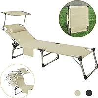 SoBuy®OGS36-MI,Tumbona reclinable Silla para Playa Piscina jardín Plegable,con