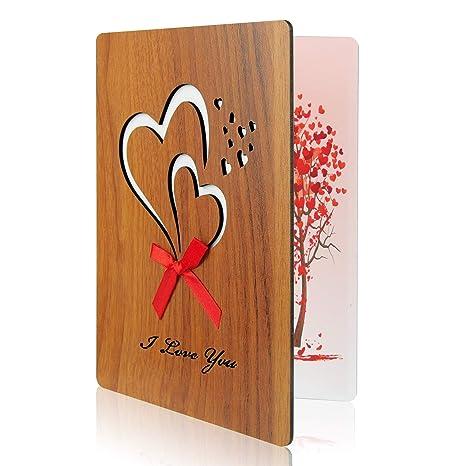 Matrimonio Auguri Speciali : Tuparka biglietto di auguri in legno giorno di padri ti amo