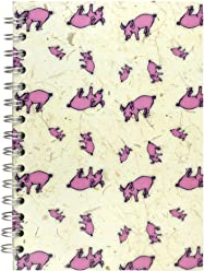 Pink Pig A5 Portrait Sketchbook | White Cartridge, 35 Leaves | Random, 2 Pack