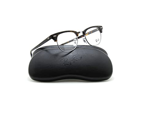 fc2321f9020 Image Unavailable. Image not available for. Color  Ray-Ban RX5154 2012  Clubmaster Unisex Eyeglasses Dark Havana ...