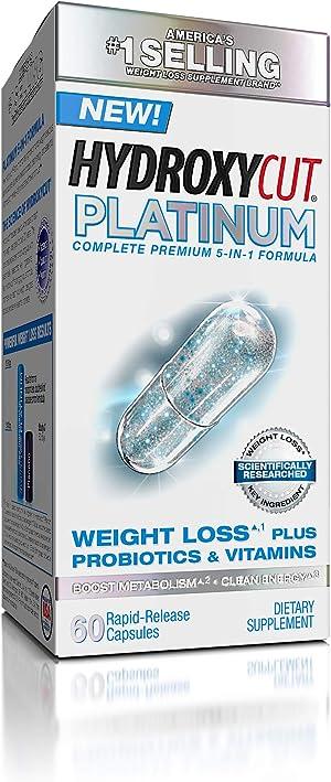 Weight Loss Pills for Women & Men | Hydroxycut Platinum | Probiotic + Weight Loss Supplement Pills | Energy Pills | Metabolism Booster for Weight Loss | Weightloss & Energy Supplements | 60 Pills