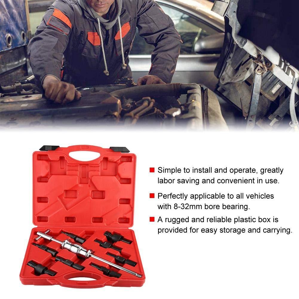 9Pcs Marteau Coulissant Extracteur de Roulement Int/érieur Extracteur de Roulement en Acier au Carbone 8-32mm pour Voiture Kit dExtracteur de Roulement