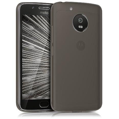 kwmobile Funda para Motorola Moto G5 - Carcasa Protectora de [TPU] para móvil - Cover [Trasero] en [Negro]