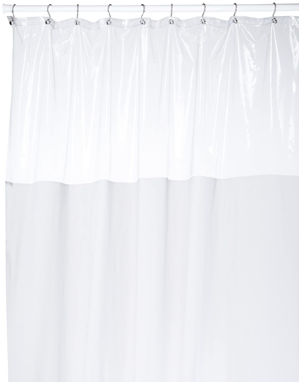 Amazon.com: Carnation Home Fashions 72 Inch By 72 Inch Vinyl Window Shower  Curtain, White: Home U0026 Kitchen