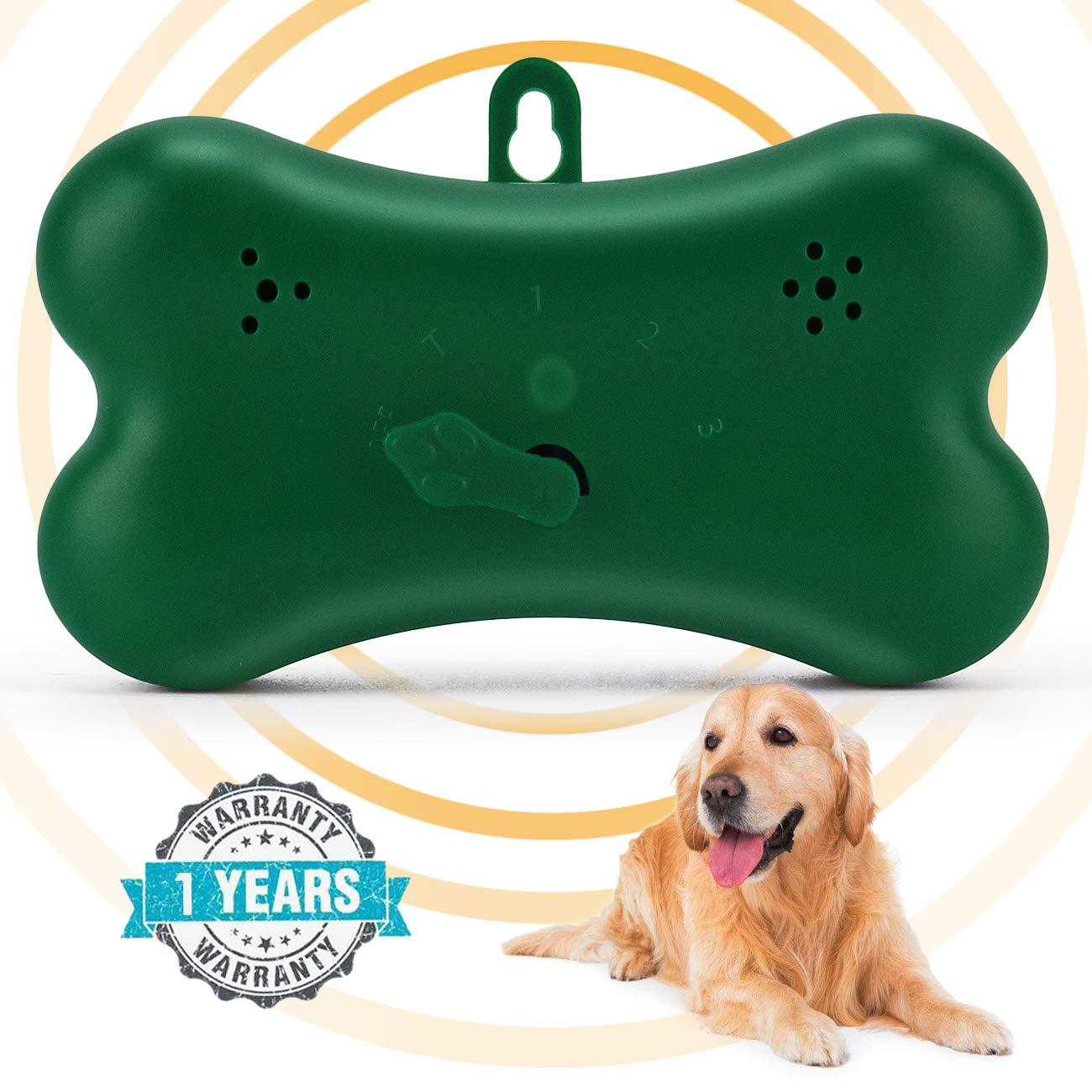 ShamBo Anti Barking Device, Mini Bark Control Device Outdoor Anti Barking Ultrasonic Dog Bark Control Sonic Bark Deterrents Silencer Stop Barking Bark Stop Repeller, Dog bark control (2018 New Green)