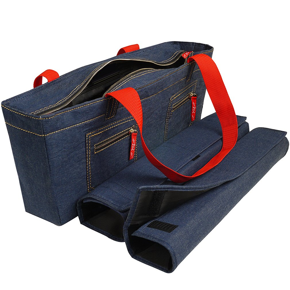 American-Wholesaler Inc. NEW! - Empty Mahjong Bag - Denim Soft Bag by Linda Li - Empty Bag Only