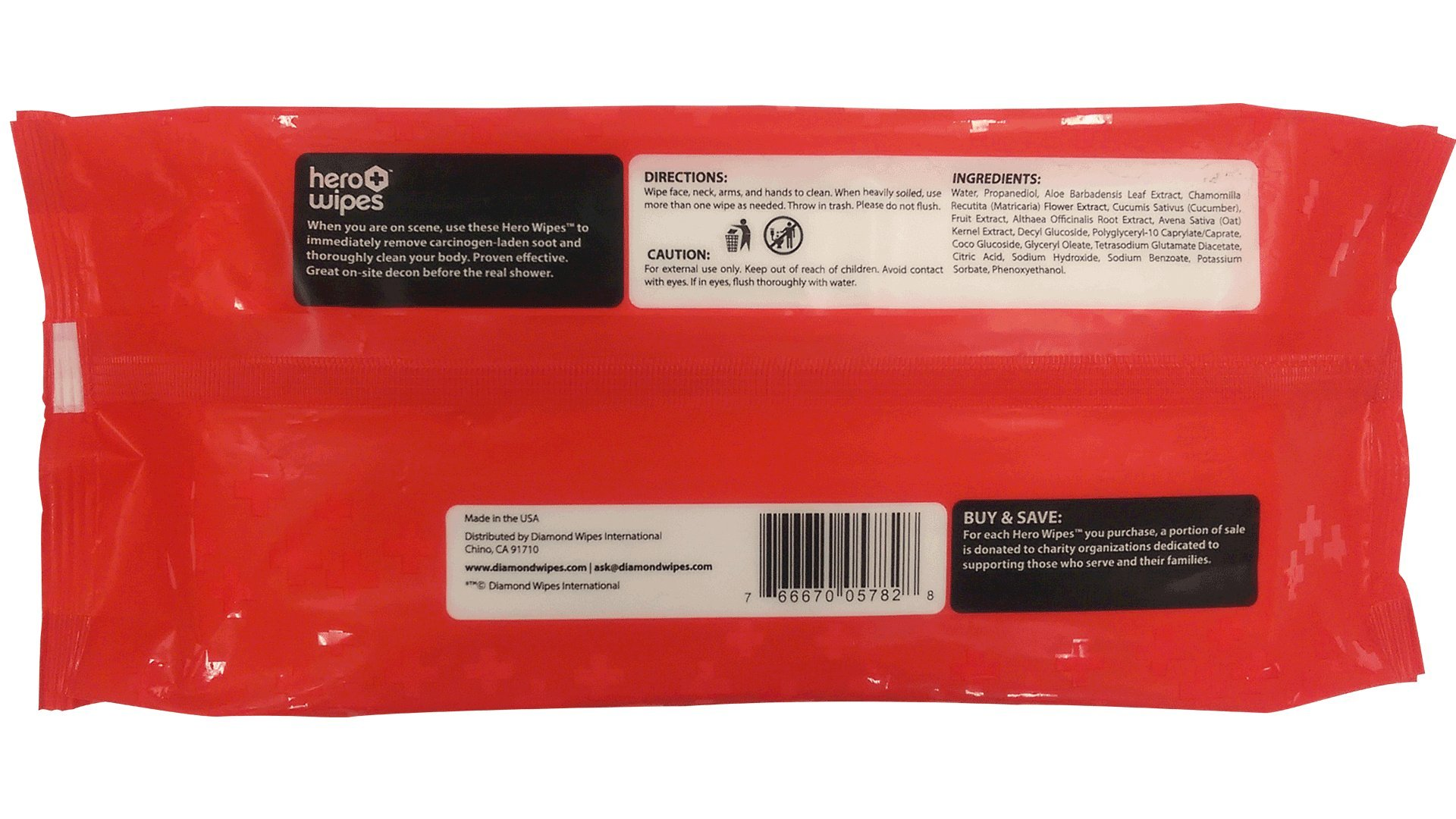 Hero Wipes On Scene Decon Body Wipes for Firefighters (Total 576 Count, case of 12 pouches) Removes 98% of Carcinogens - All Natural Alcohol Free Formula - Removes Soot, Smoke and Toxins - Made in USA by Hero Wipes (Image #3)