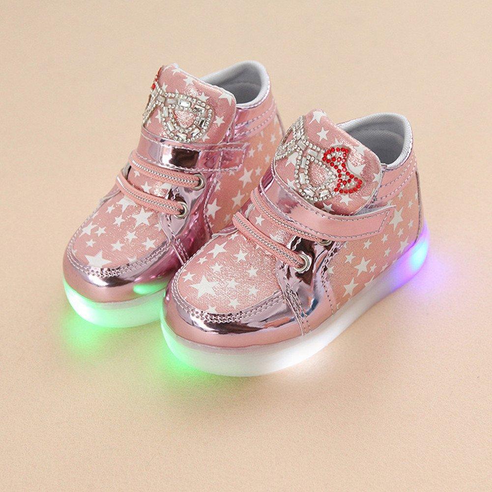 Zapatos LED niños zapatos ligeros Stillshine Chica intermitente deporte Running zapatillas zapatos
