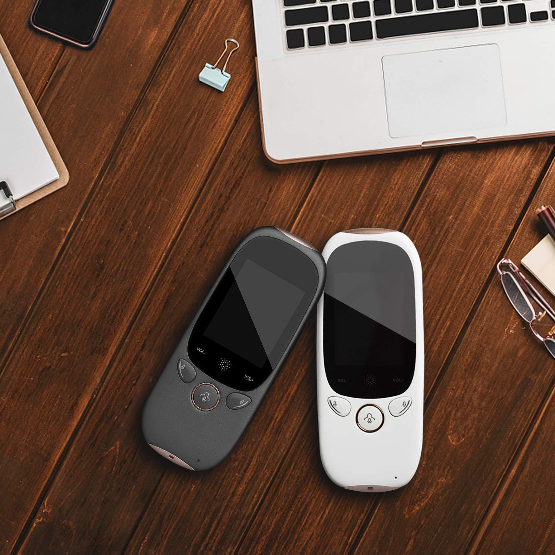 Smart Voice Translator Dispositivo con touch screen WiFi bidirezionale in tempo reale Instant Translator Supporto 45 lingue 4 lingue per la traduzione off-line bianco