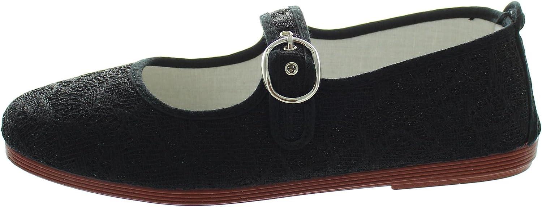 Flossy Vilena Black Lace Mary Jane Women's Flat Shoes, UK 5: Amazon.co.uk:  Shoes & Bags