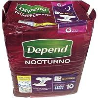 Depend Pañal para Adulto Nocturno, Grande, 10 Piezas
