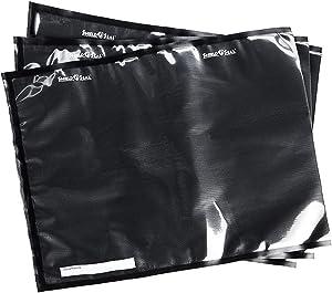 """ShieldNSeal 15"""" x 20"""" Clear & Black Vacuum Seal Bags SNS 500"""