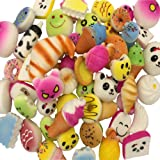Kayoon Random 15PCS Kawaii Squishy Bread Charms Jumbo Medium Mini Food/Panda/Toasts/Cake Phone Pendant Straps Stress Relief Toy Gifts