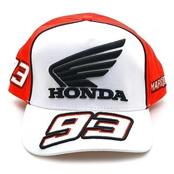 Honda Marc Marquez 93 Moto GP Blanco Logo Gorra Oficial 2017: Amazon.es: Deportes y aire libre