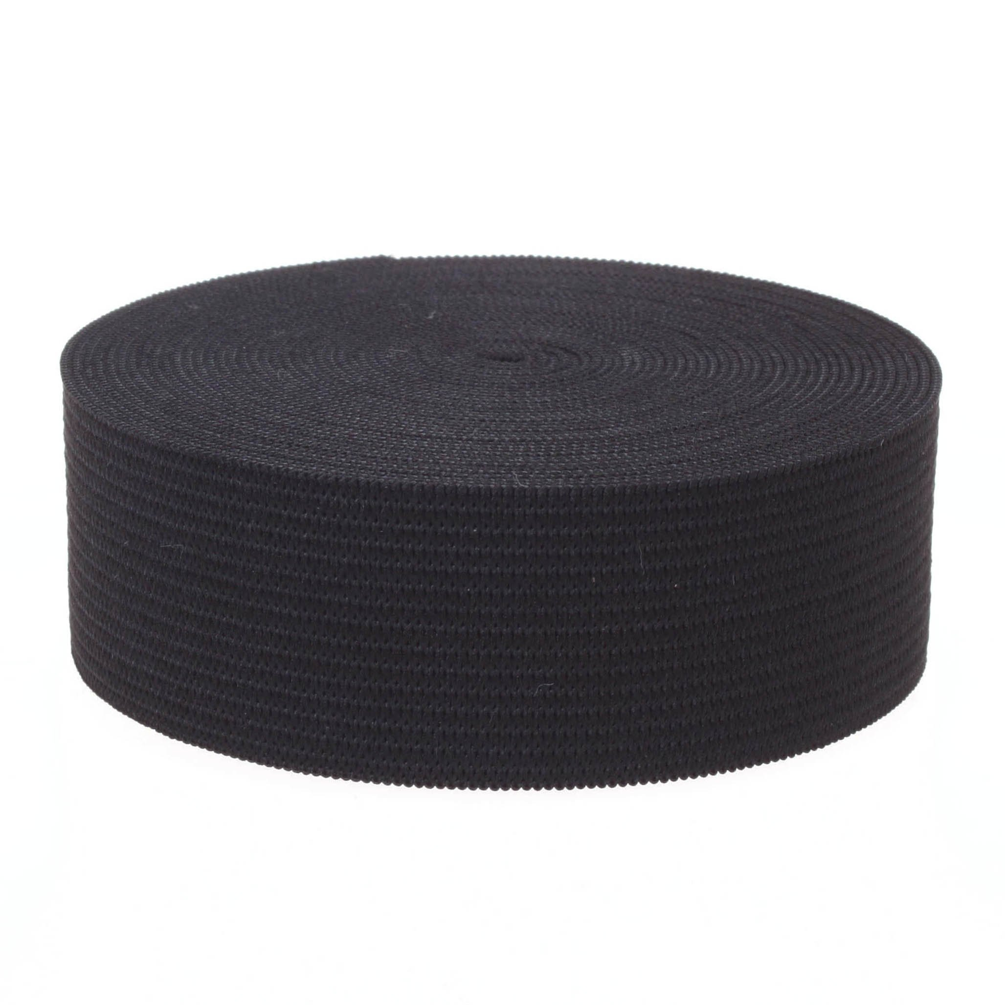 COTOWIN 4-inch Wide Black Knit Heavy Stretch High Elasticity Elastic Band 48-Yard by COTOWIN