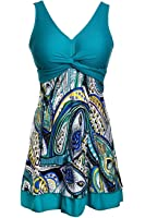 One Piece Shaping body Floral Swimwear Swimdress Plus Size Bathing suit for Women