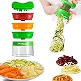 Spiralschneider Hand für Gemüsespaghetti, Gemüseschneider, Gemüsehobel, 3-Klingen Spiralschneider
