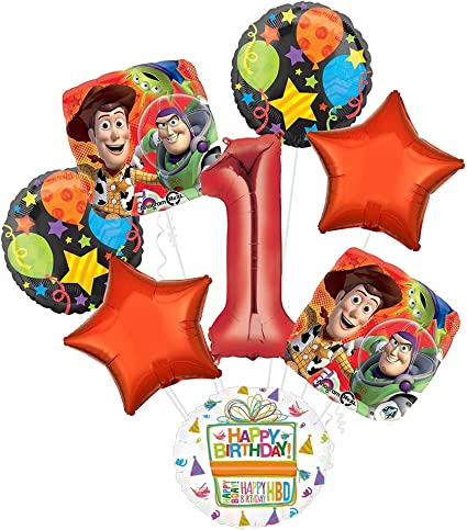 Toy Story 1st Birthday Party Supplies and Balloon Bouquet Decorations