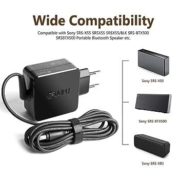 TAIFU 15V Adaptador Cargador 15V 2.5A para Sony Altavoz Bluetooth inalámbrico portátil SRS-X55 SRS-X77 SRS-X88 SRS-BTX500 SRS-XB3 AC-E1525 AC-E1530 ...