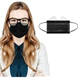 S Sunyokini 50/100 Pcs 3-Ply Disposable Face Macks, Anti-Fog Face Shield for People Who Wear Glasses, Latest Technology