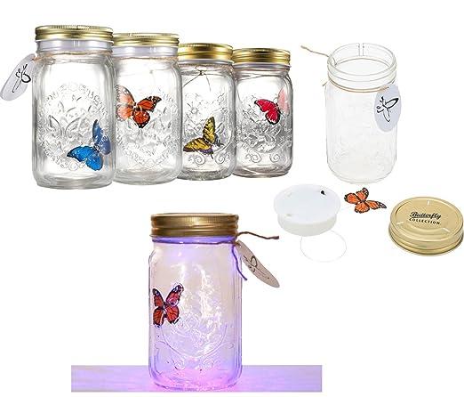 Mariposa en un tarro LED lámpara mariposa tarro electrónico ...