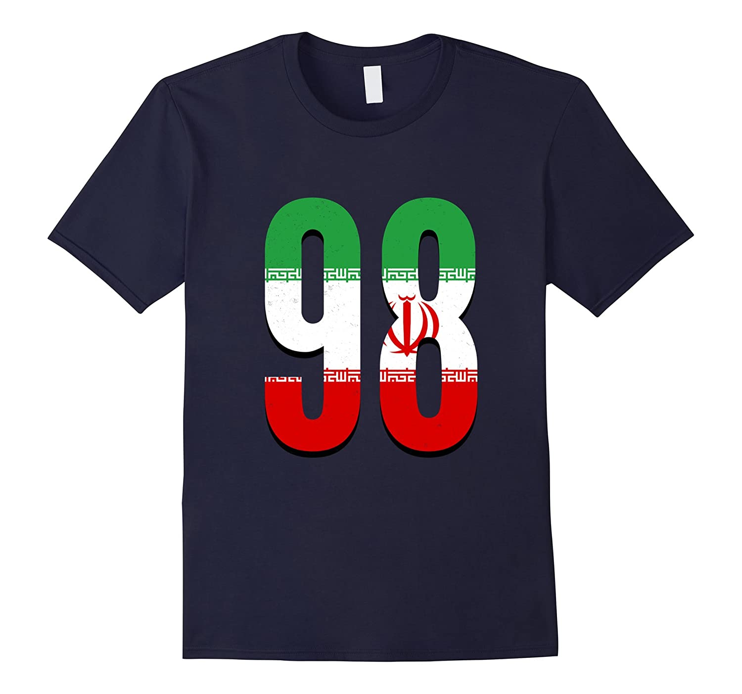 98 Iran Iranian Pride Country Area Code Phone T-Shirt-PL