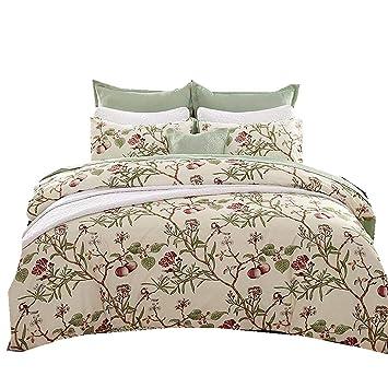 Stillshine Bettwäsche Set Kissenbezüge Vintage Blumen Aufdruck