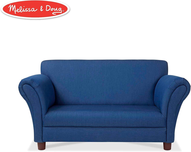 """Melissa & Doug Child's Sofa (Blue Denim Children's Furniture, 34.4"""" H x 20.5"""" W x 18.3"""" L)"""