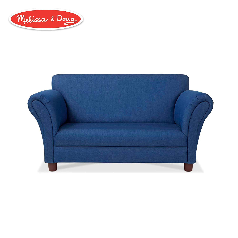 Amazon.com: Melissa & Doug Child\'s Sofa (Blue Denim ...