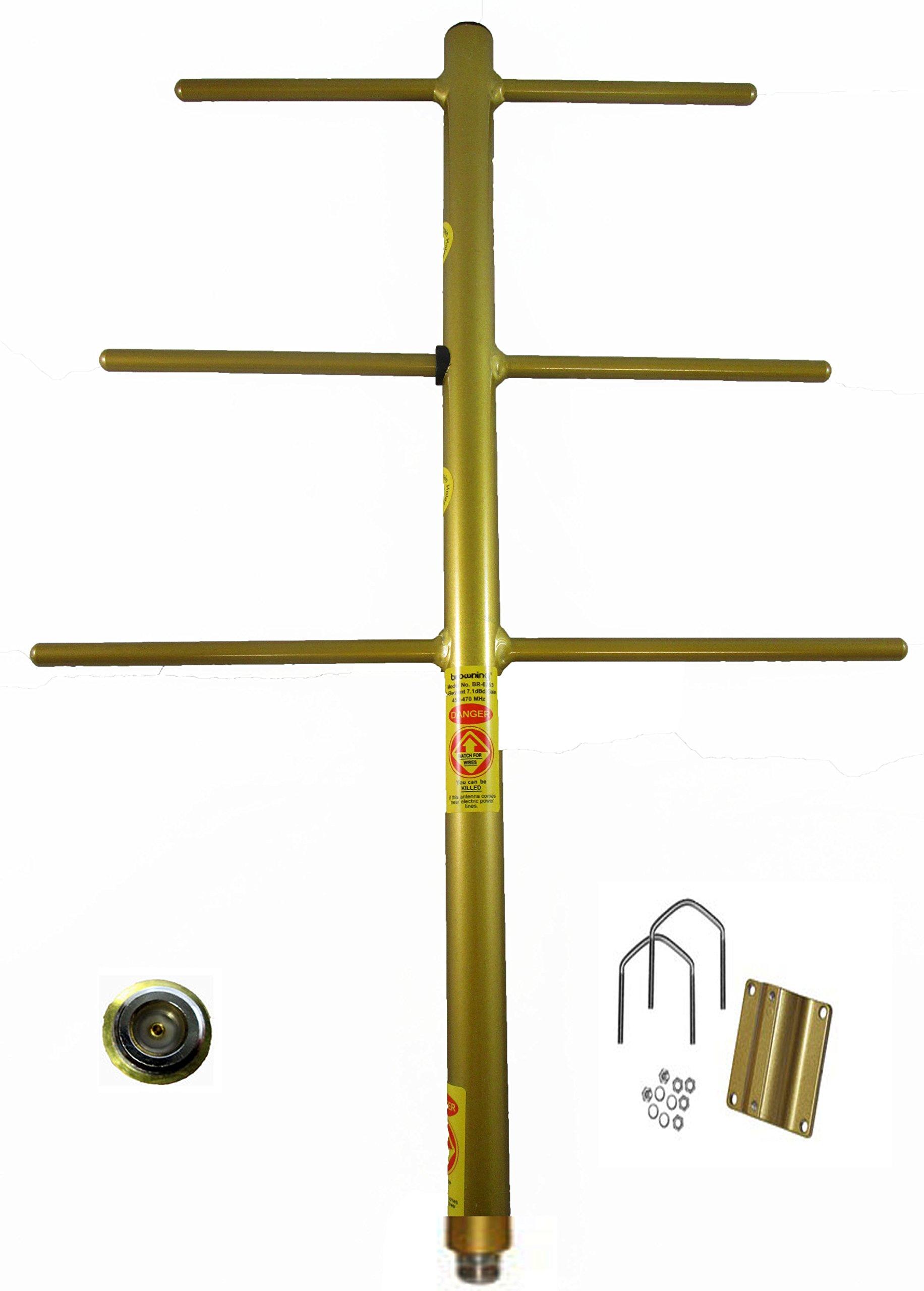 Tram Browning BR-6353 7.1dB fully welded Yagi UHF 450-470MHz antenna