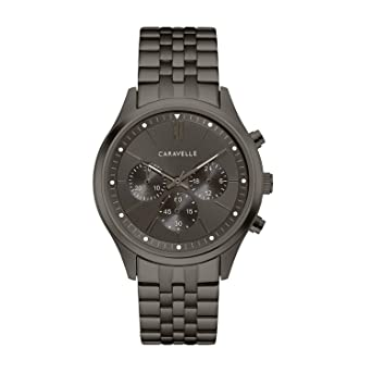 acb0410b4 Caravelle Men's Quartz Stainless Steel Watch, Color:Grey (Model: 45A141)