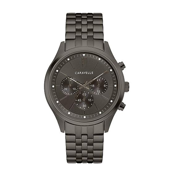 acb0410b4 Caravelle Men's Quartz Stainless Steel Watch, Color:Grey (Model: 45A141)