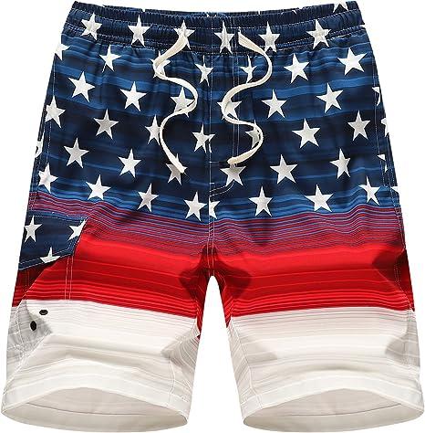 APTRO Womens Casual Swim Shorts Beach Swimwear Quick Dry Elastic Waist Board Shorts