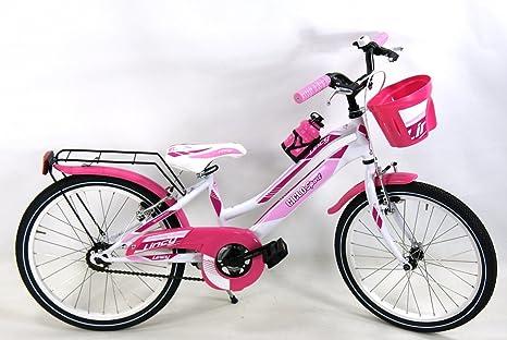 Bicicletta Per Bambina Bimba Venere Misura 20 Bianco Rosa