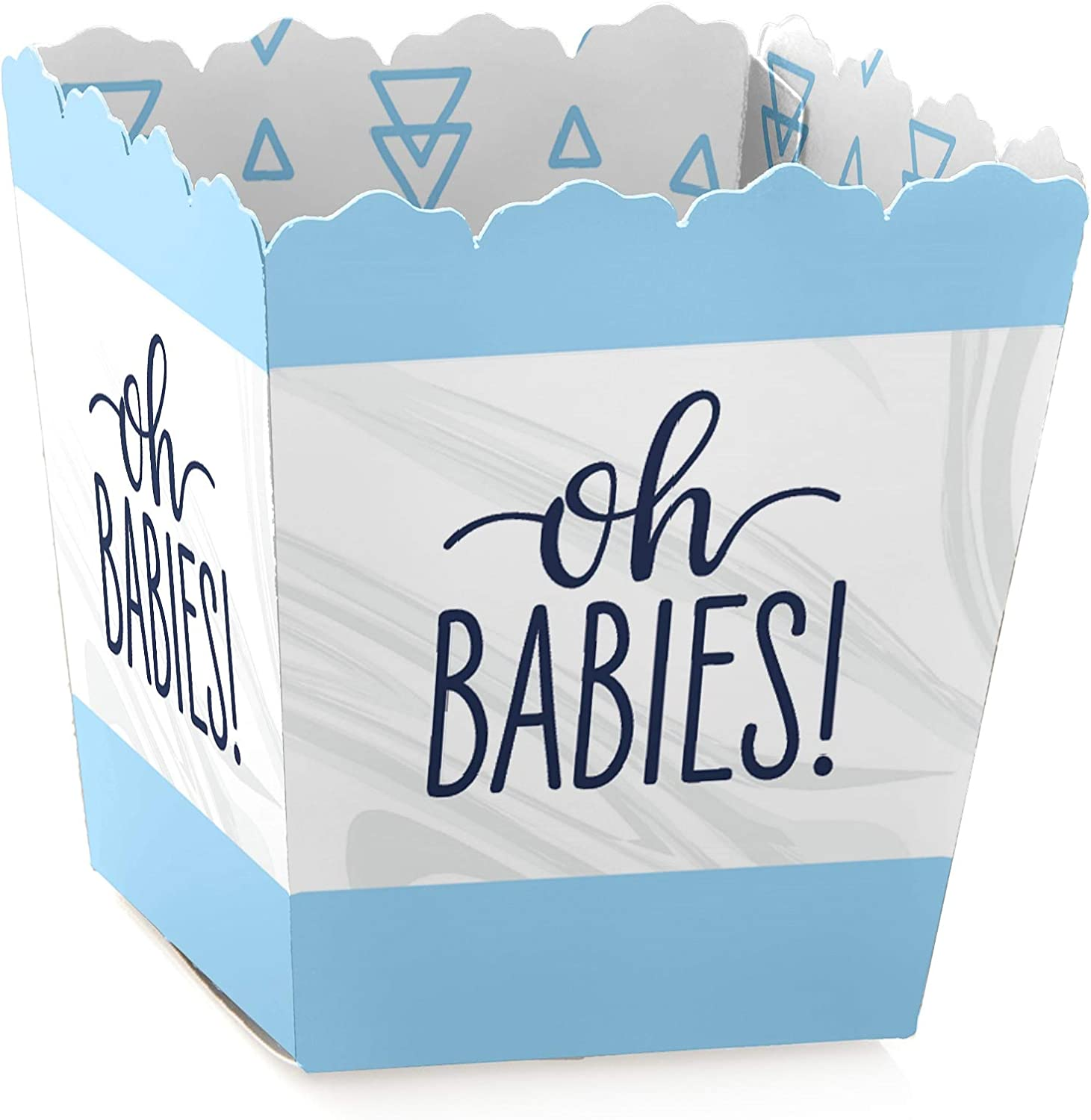 Amazon Com It S Twin Boys Party Mini Favor Boxes Blue Twins Baby Shower Treat Candy Boxes Set Of 12 Toys Games