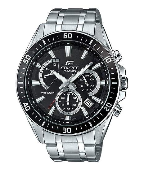 46e6c5f97d7b Casio Reloj Analogico para Hombre de Cuarzo con Correa en Acero Inoxidable  EFR-552D-1AVUEF  Amazon.es  Relojes