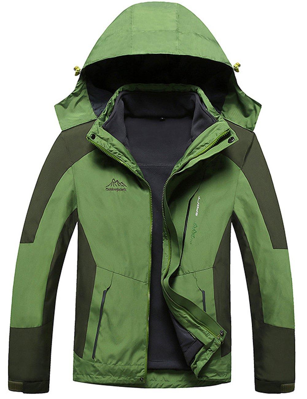 Menschwear OUTERWEAR メンズ B076KMG1NN 3L|Green 8820 Green 8820 3L