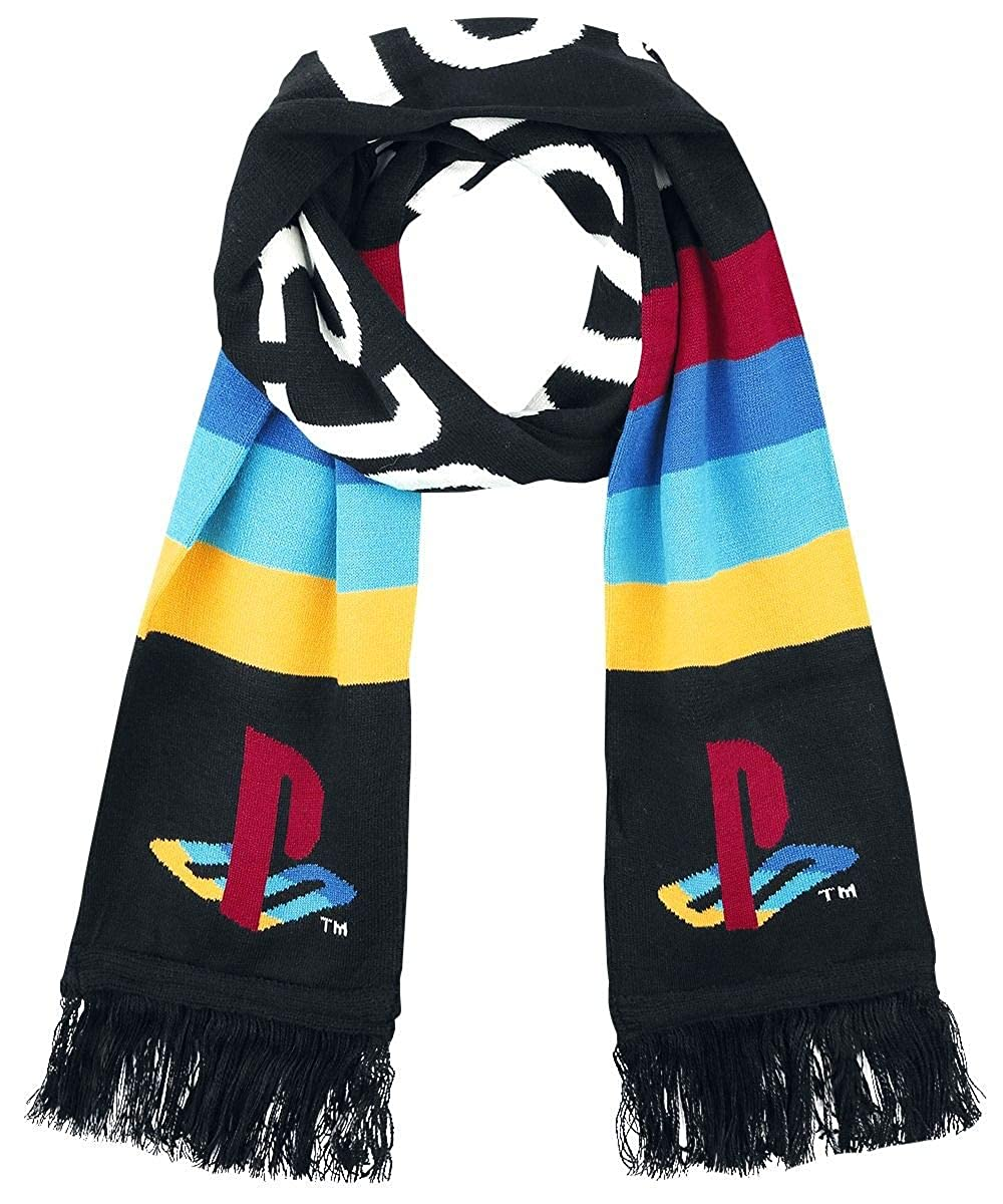 Official Licensed Unisex PlayStation Big Logo Multi-Colour Knitted Scarf MDIEOTBIZ23018