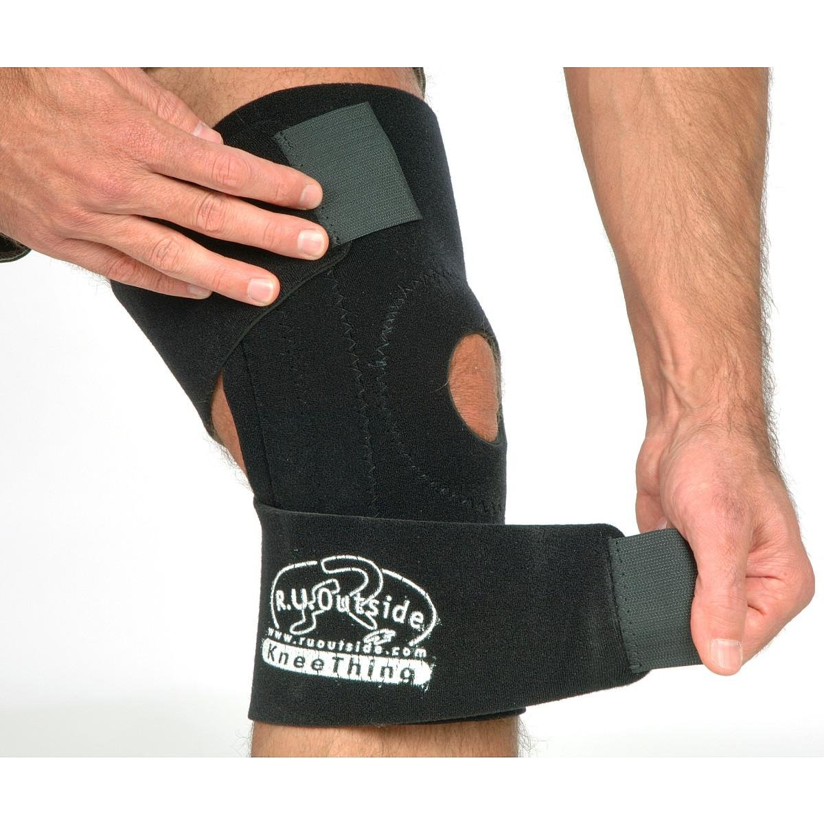 R.U.Outside Kneething - Knee Support, Medium/100-220-Pound, Black