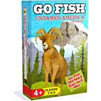 Go Fish Untamed America a 3-in-1 Classic Card Game for Kids (Go Fish Old Maid and More) 3 Classic Kids Games in One Beautifully Illustrated Deck Featuring North American Wild Animals