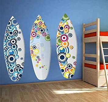 TODO color Vinyl Adhesivo decorativo de pared decoración de tablas de surf máscaras Ocean wavesfor sala