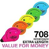Fullmark permanente adhesivo/pegamento Roller, 6 mm x 18 m cada uno, varios colores, 5 unidades