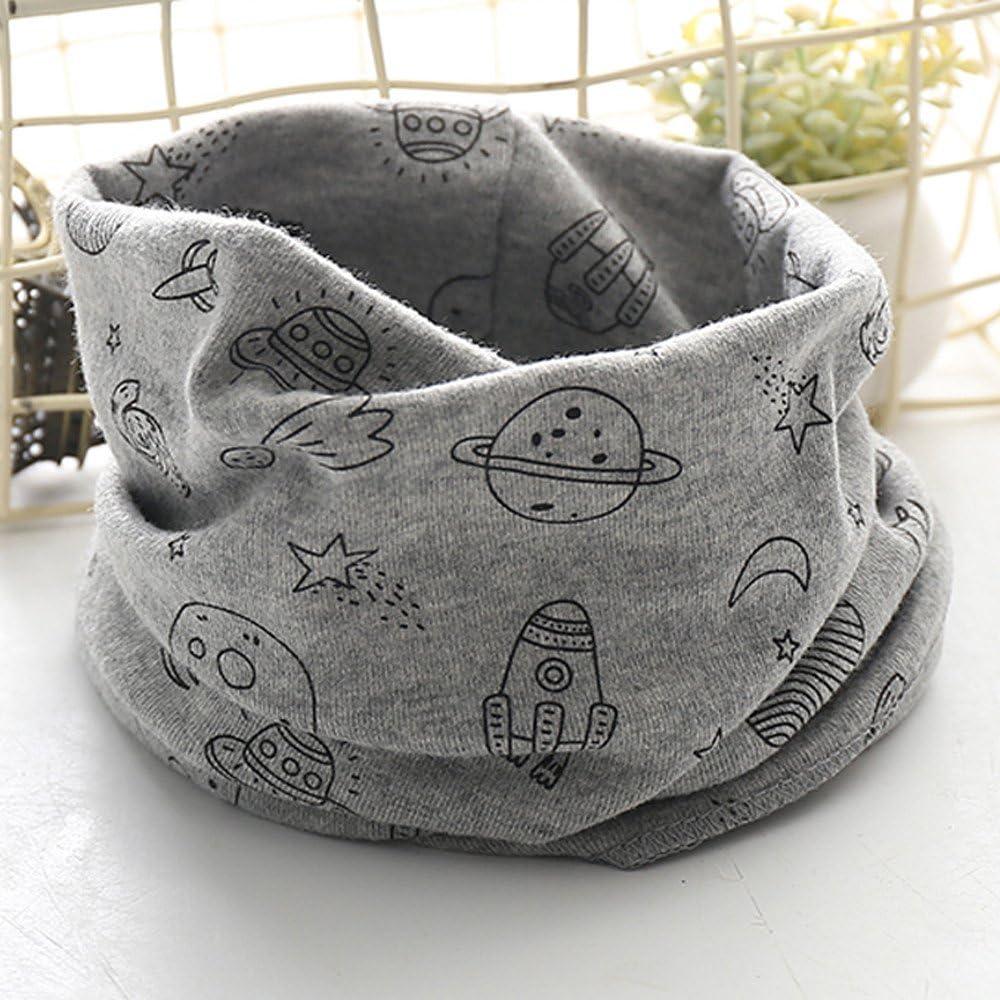 Loop Schal Baby Jungen Herbst Winter M/ädchen Schals O Ring Halst/ücher Schlauchschal Cartoon Hund drucken Rundschal XXYsm