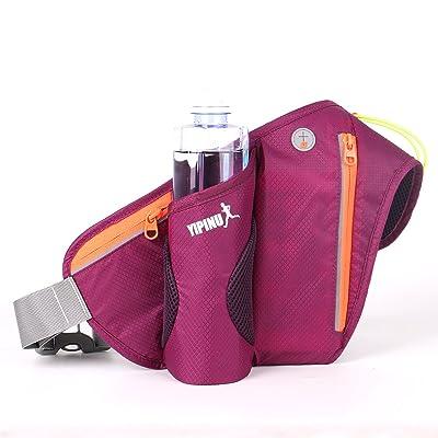 Ceinture de course ceinture de taille Pack avec porte-bouteille d'eau (ne pas inclure la bouteille d'eau), YIPINU Waterproof ceinture d'hydratation pour les vacances de voyage Camping escalade randonnée sports outdoor
