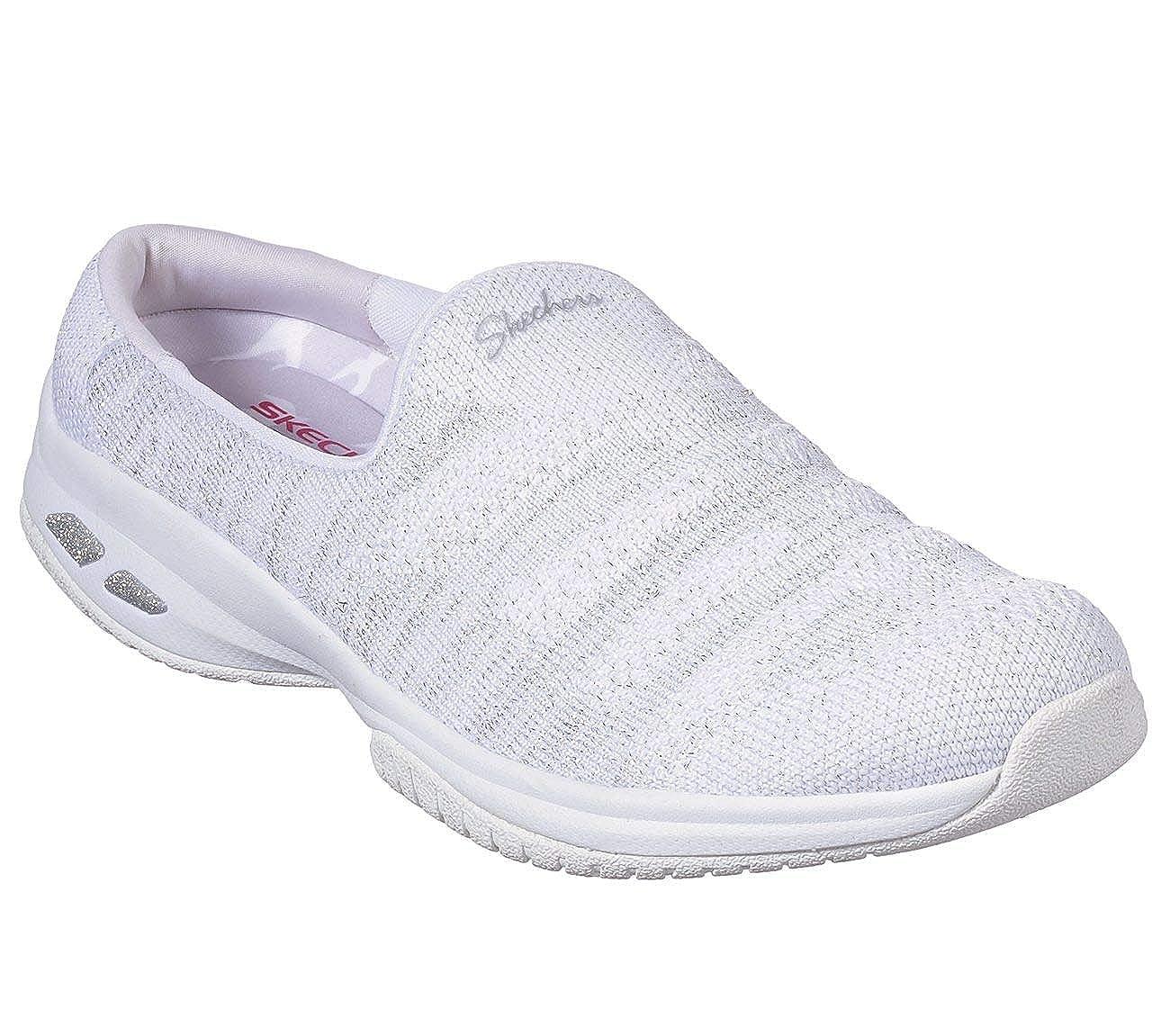 Blanc Blanc Argenté Skechers Femmes Commute Chaussures Athlétiques  nouvelle exclusivité haut de gamme