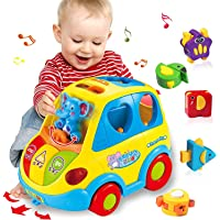 HOMOFY Baby Toy 12-18 Months, Musical Shape Smart Bus & Go Action Bus Early Education Toy ,Various Animal Sounds/Music…