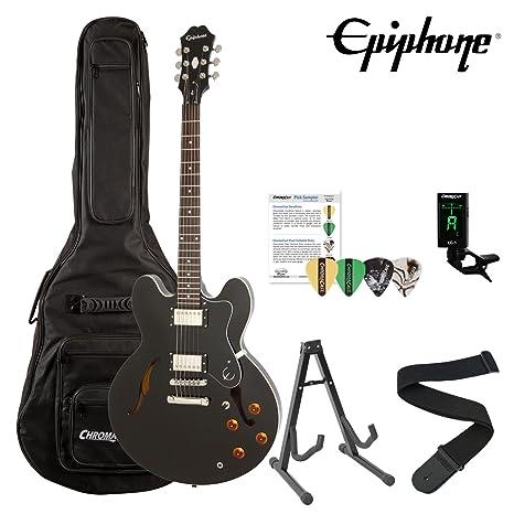 Epiphone ES-335 Dot Archtop guitarra eléctrica Kit con accesorios de chromacast